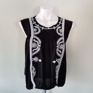 Free People Embroidered Cap Sleeve Size Small